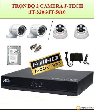 Trọn bộ 2 camera an ninh gia đình JTech JT-3206 / JT-5610