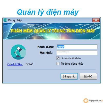 Phần mềm quản lý cửa hàng điện máy