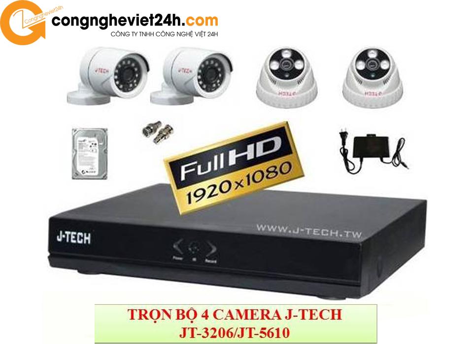Trọn bộ 4 camera an ninh gia đình JTech JT-3206 / JT-5610